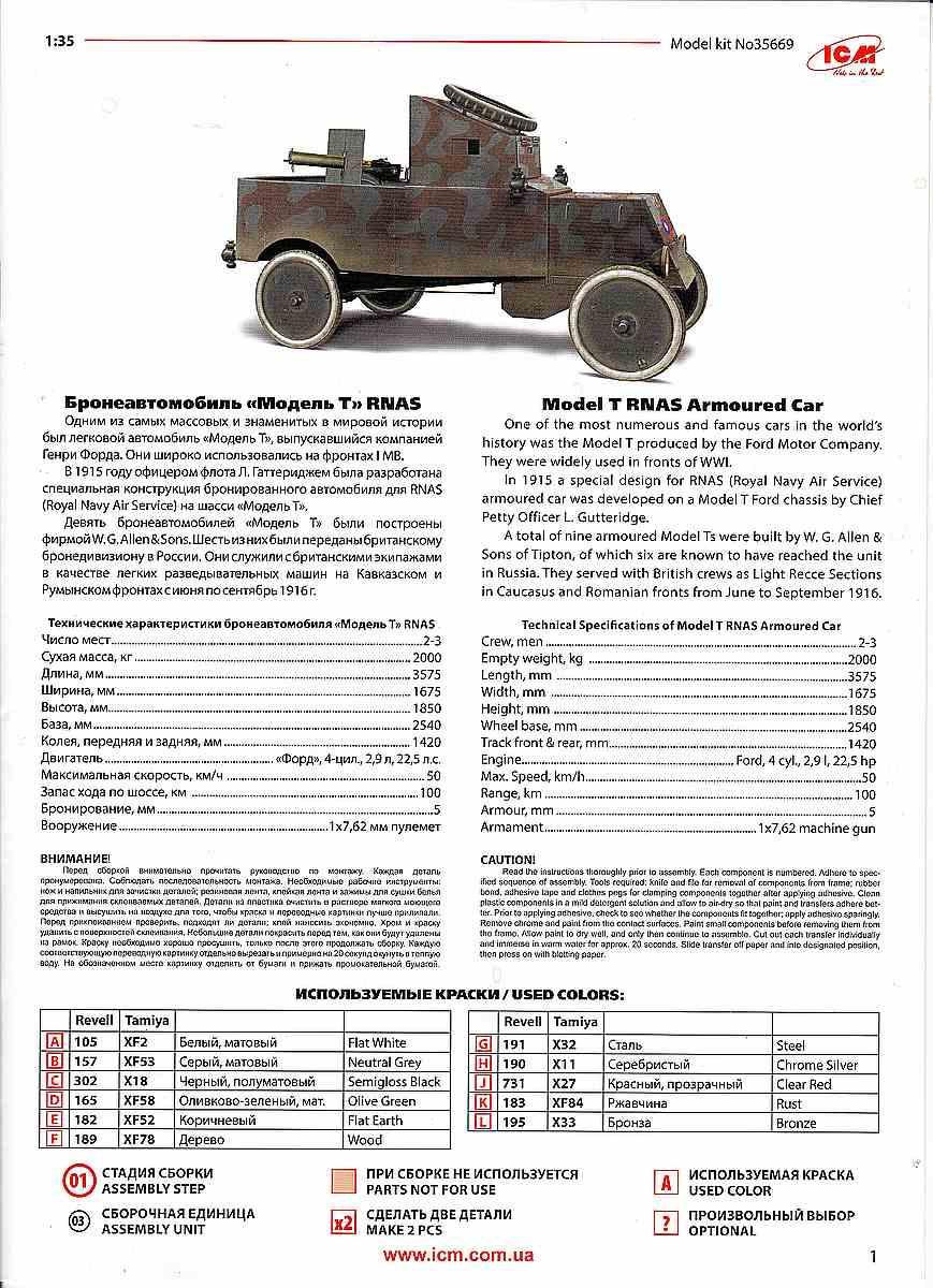 ICM-35669-Model-T-RNAS-Armoured-Car-26 Ford Model T RNAS Armoured Car in 1:35 von ICM # 35669