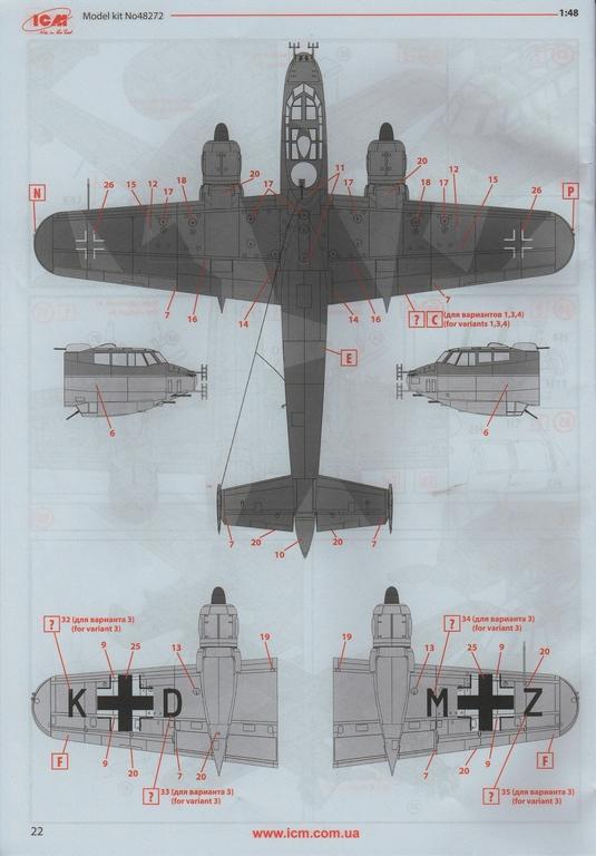 ICM-48272-Do-217-J-1-60 Dornier Do 217 J-1/J-2 Nachtjäger von ICM in 1:48 #48272