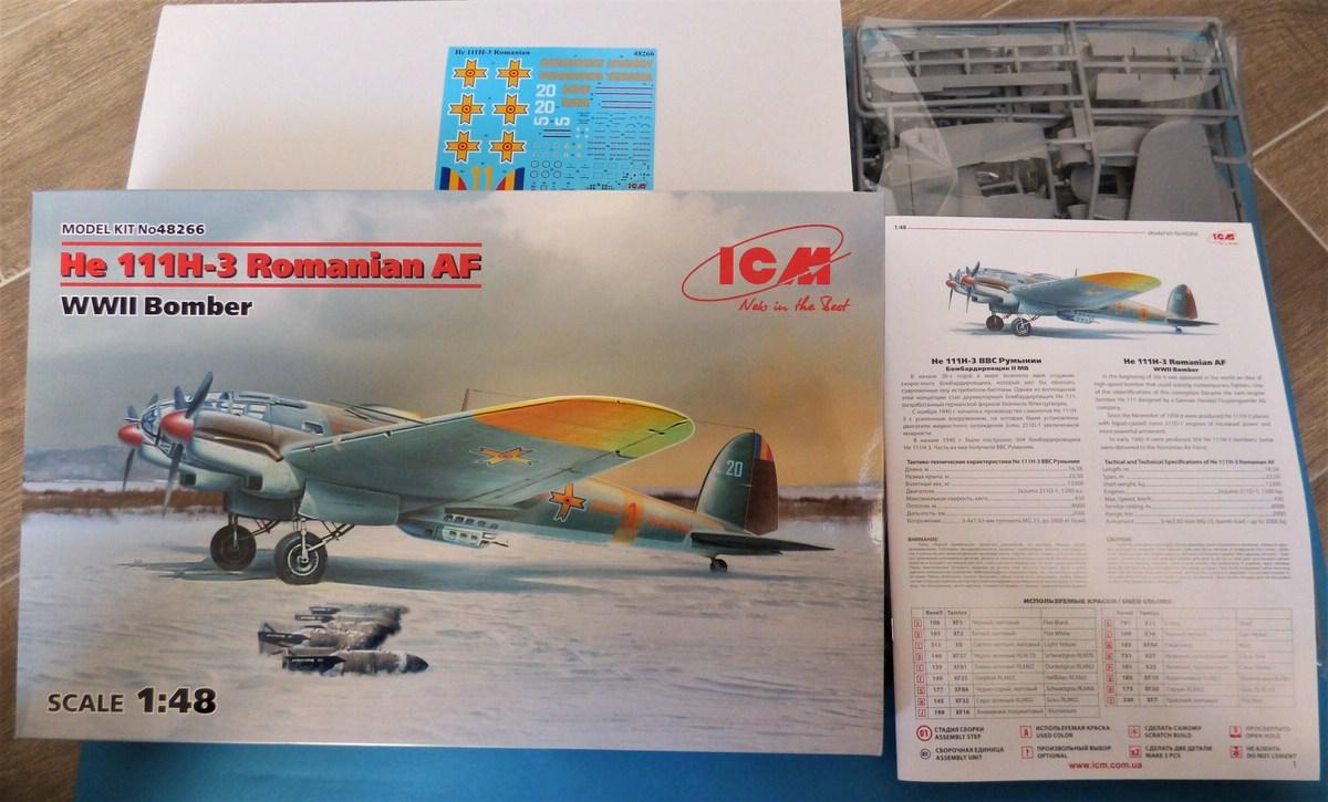 ICM-Heinkel-He-111-H-3-Romanian-AF-2 Heinkel He 111 H-3 Romanian AF in 1:48 von ICM #48266