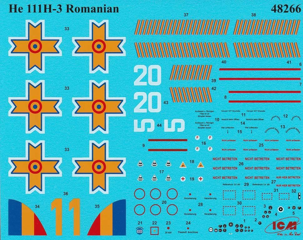 ICM-Heinkel-He-111-H-3-Romanian-AF-3 Heinkel He 111 H-3 Romanian AF in 1:48 von ICM #48266