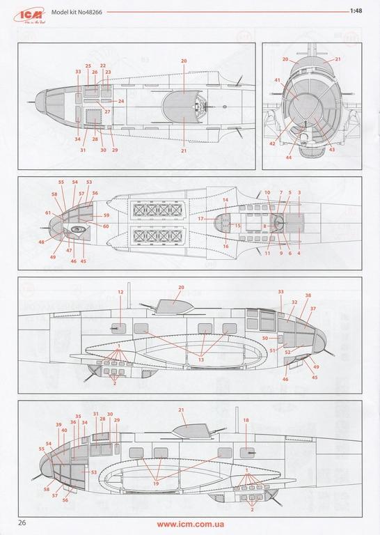 ICM-Heinkel-He-111-H-3-Romanian-AF-6 Heinkel He 111 H-3 Romanian AF in 1:48 von ICM #48266