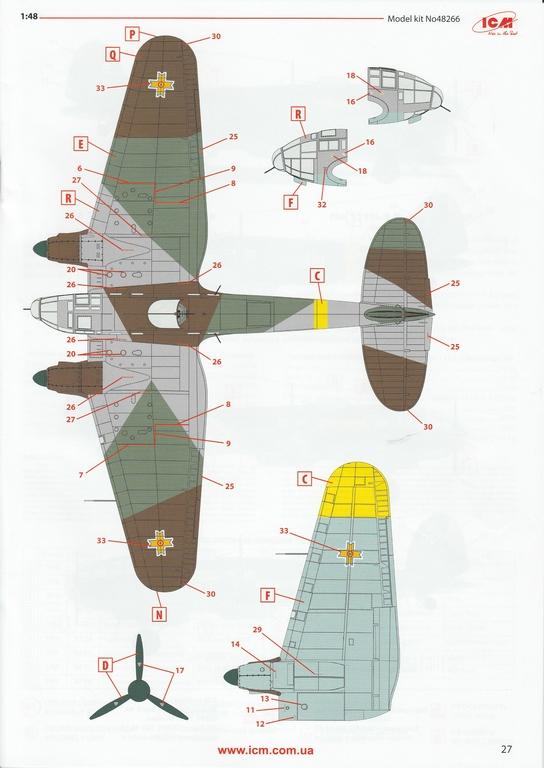 ICM-Heinkel-He-111-H-3-Romanian-AF-7 Heinkel He 111 H-3 Romanian AF in 1:48 von ICM #48266