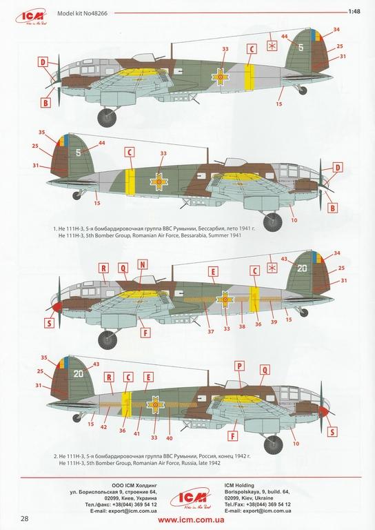 ICM-Heinkel-He-111-H-3-Romanian-AF-8 Heinkel He 111 H-3 Romanian AF in 1:48 von ICM #48266