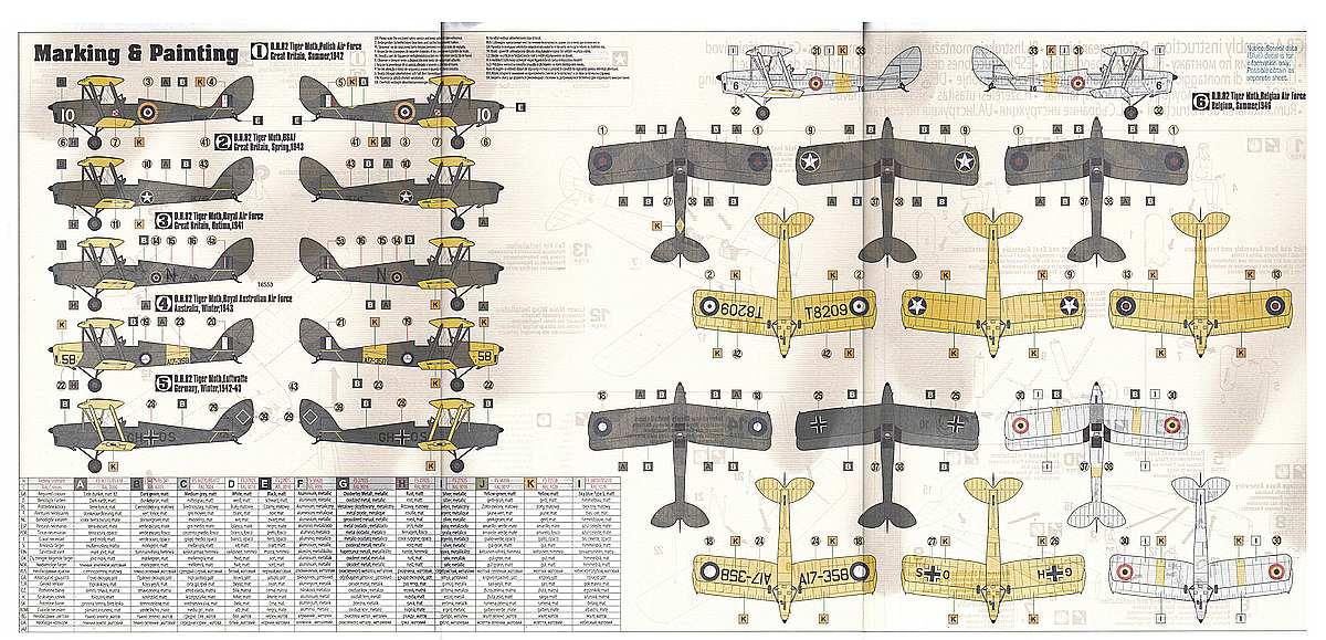 MisterCraft-E-42-DH-82-Tiger-Moth-10 DH 82 Tiger Moth in 1:48 von MisterCraft  # E-42