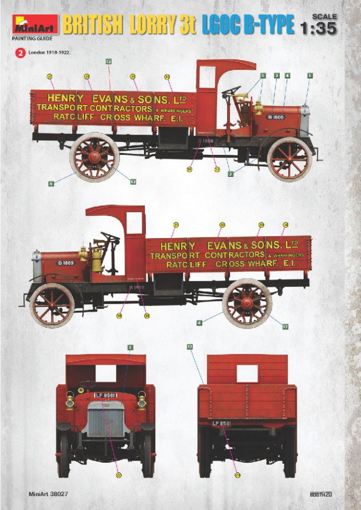 Review_MiniArt_British_Lorry_59 British Lorry 3t LGOC B-Type - MiniArt 1/35