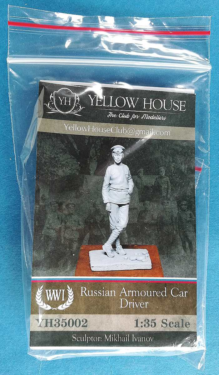 Yellow-House-YH-35002-Russian-Armoured-Car-Driver-2 Russian Armoured Car Officer in 1:35 von Yellow House