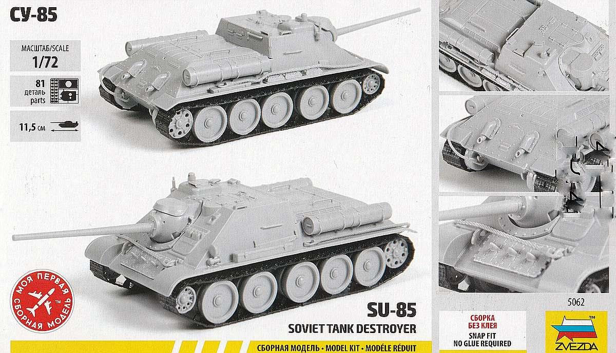 Zvezda-5062-Su-85-2 SU-85 in 1:72 von Zvezda #5062