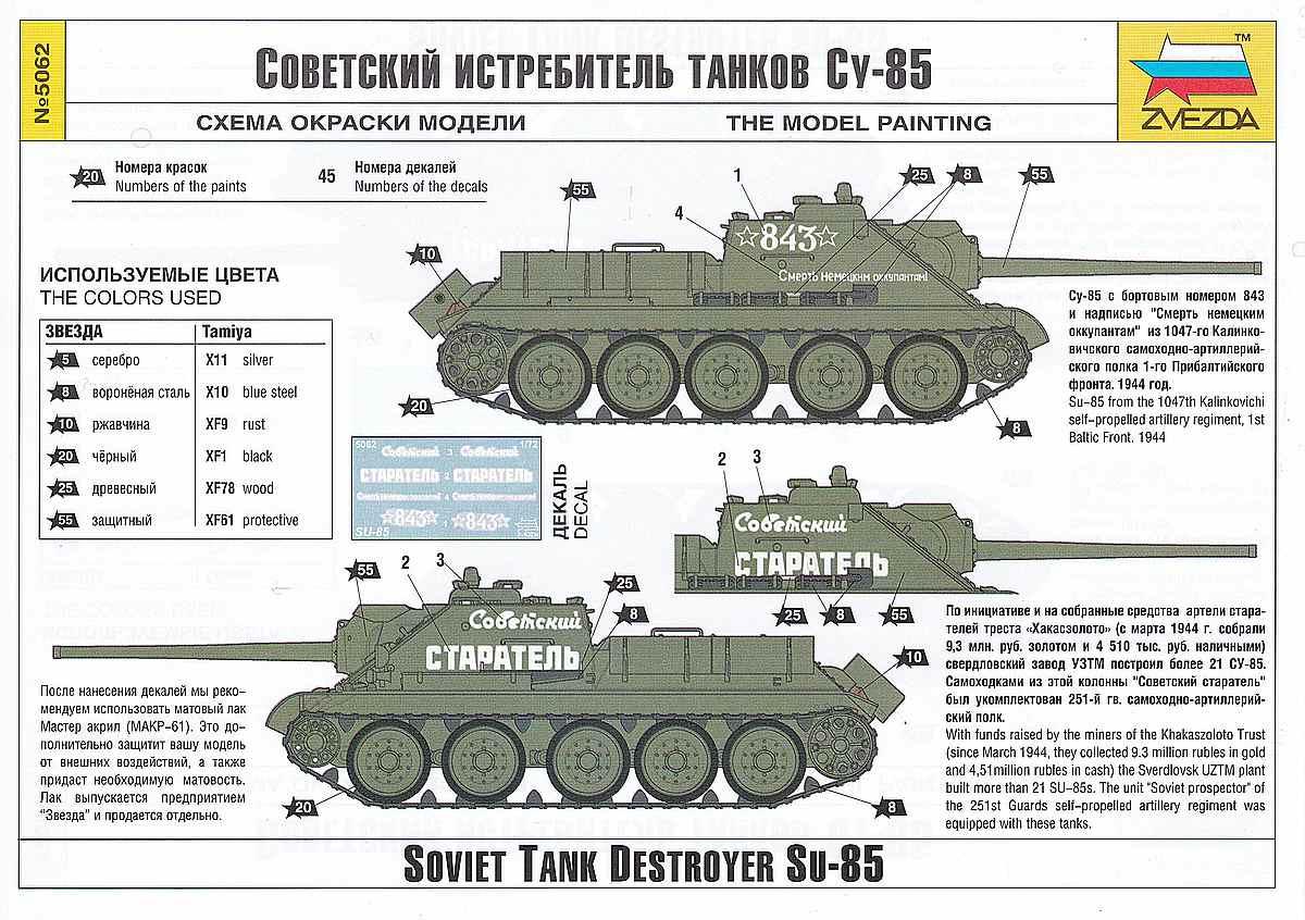 Zvezda-5062-Su-85-4 SU-85 in 1:72 von Zvezda #5062