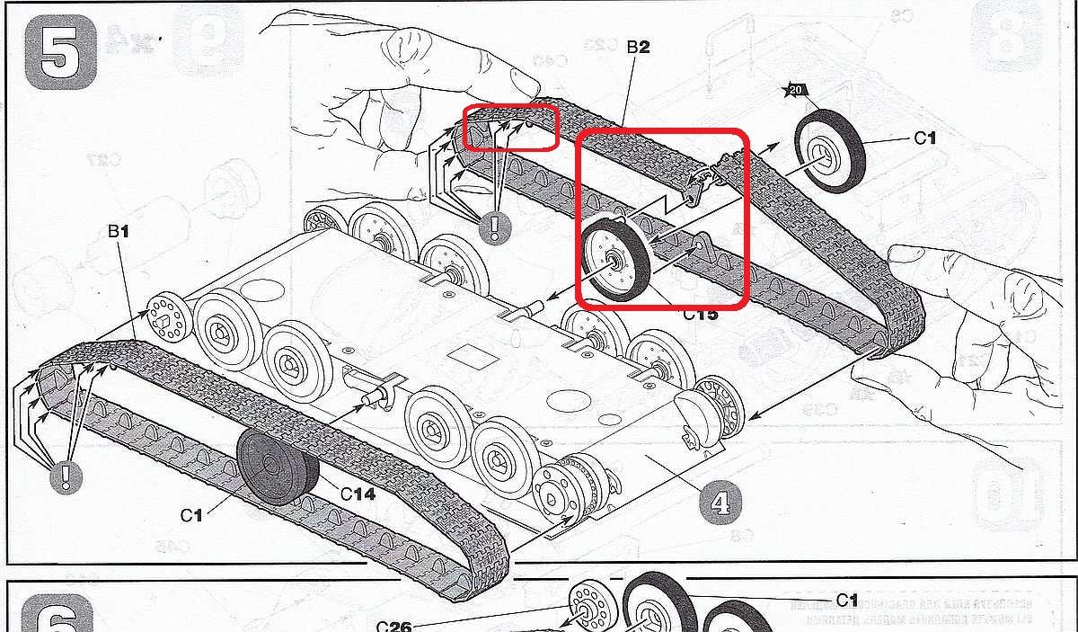 Zvezda-5062-Su-85-Kettenmontage SU-85 in 1:72 von Zvezda #5062