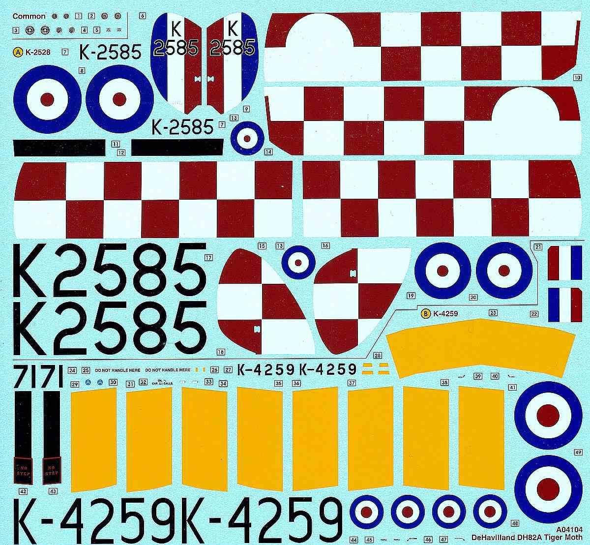 Airfix-A-04104-DeHavilland-Tiger-Moth-1zu48-2 DeHavilland DH 82 Tiger Moth in 1:48 von Airfix # A04104