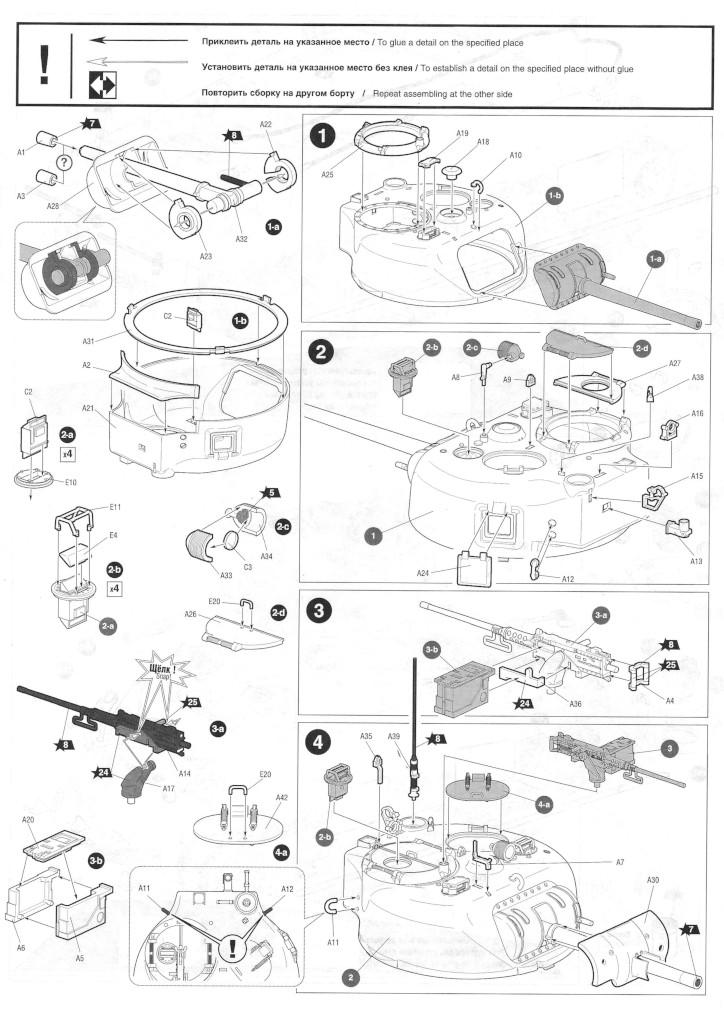 Anleitung03-1 M4A2 Sherman 1:35 Zvezda (#3702)