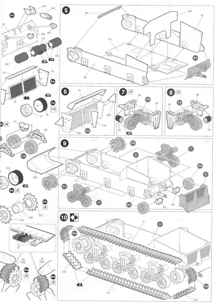 Anleitung04-1 M4A2 Sherman 1:35 Zvezda (#3702)