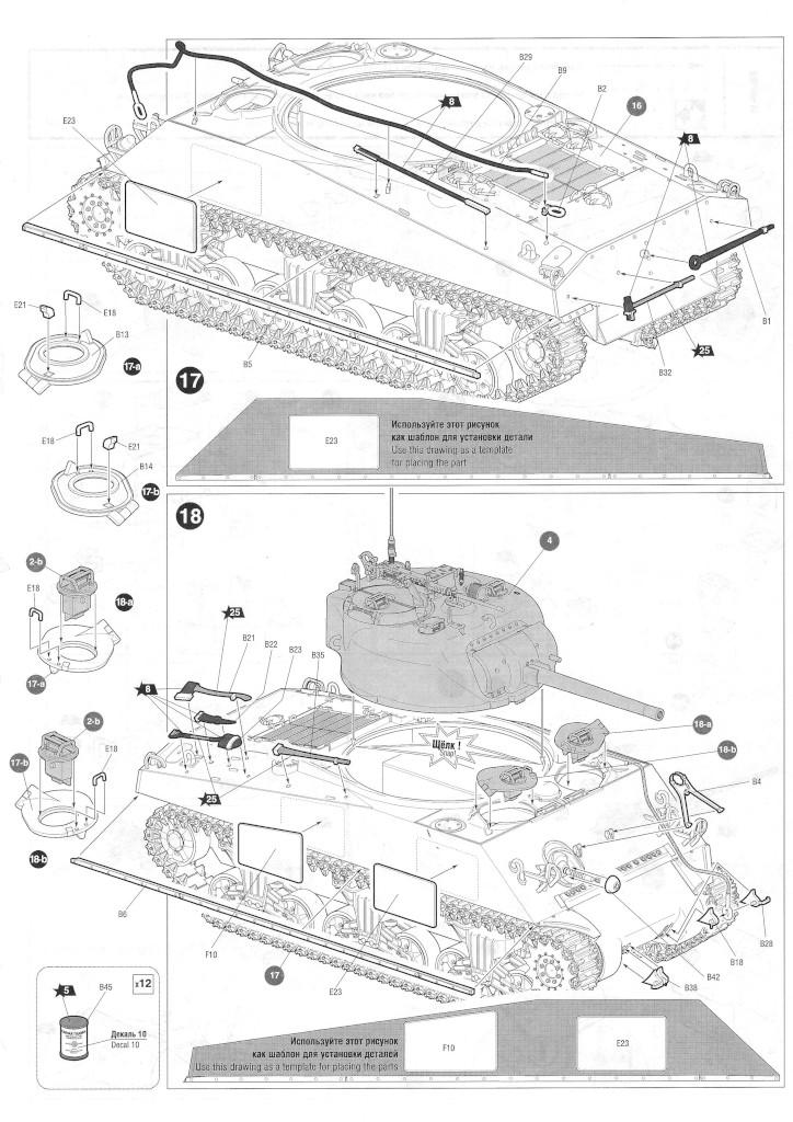 Anleitung06-1 M4A2 Sherman 1:35 Zvezda (#3702)