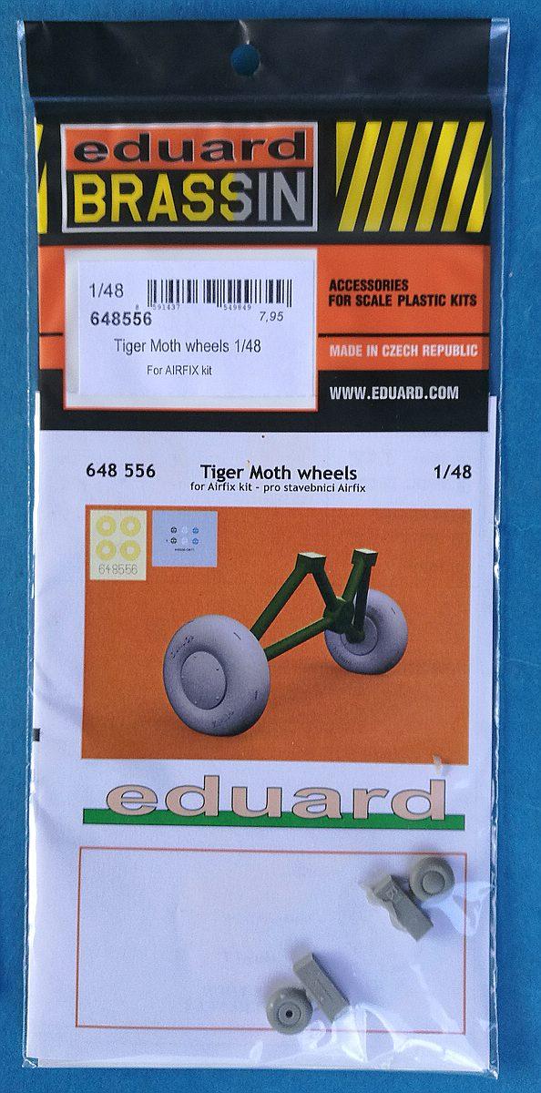 EDuard-648556-Tiger-Moth-wheels-BRASSIN-2 Eduard Zubehörsets für die Tiger Moth in 1:48 von Airfix