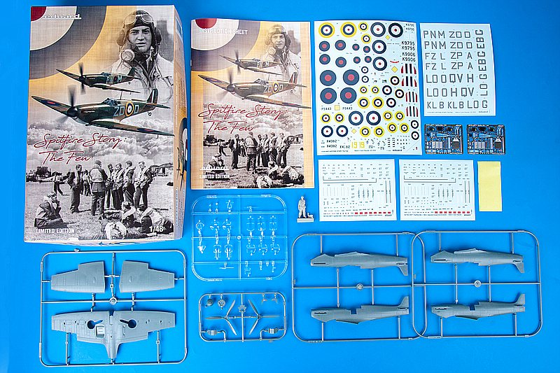 Eduard-11143-Spitfire-Mk.-I-The-Few-Inhalt Spitfire Story: The few in 1:48 von Eduard #11143