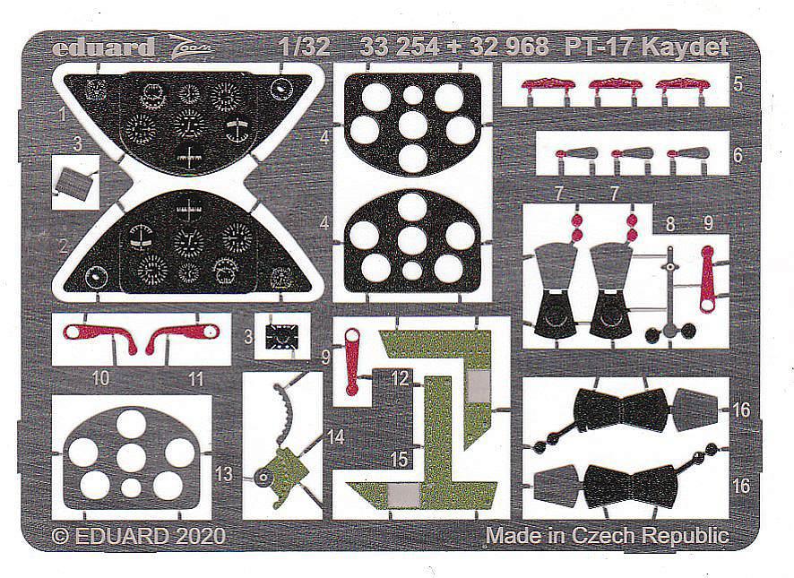 Eduard-32968-PT-17-Kaydet-3 Eduard Zurüstsets für die PT-17 von Roden in 1:32