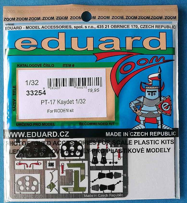 Eduard-33254-PT-17-Kaydet-ZOOM Eduard Zurüstsets für die PT-17 von Roden in 1:32