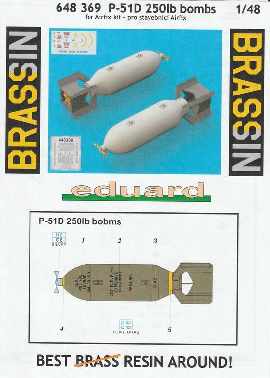 Eduard-SIN-64846-Mustang-Airfix-27 Eduard Bewaffnung und Tanks für die Airfix P-51 Mustang in 1:48 #SIN 64846