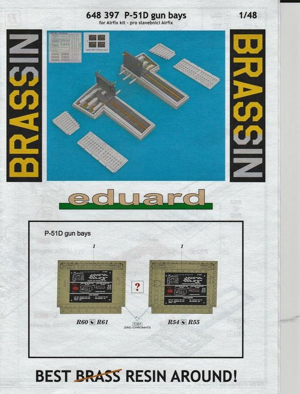 Eduard-SIN-64846-Mustang-Airfix-35 Eduard Bewaffnung und Tanks für die Airfix P-51 Mustang in 1:48 #SIN 64846