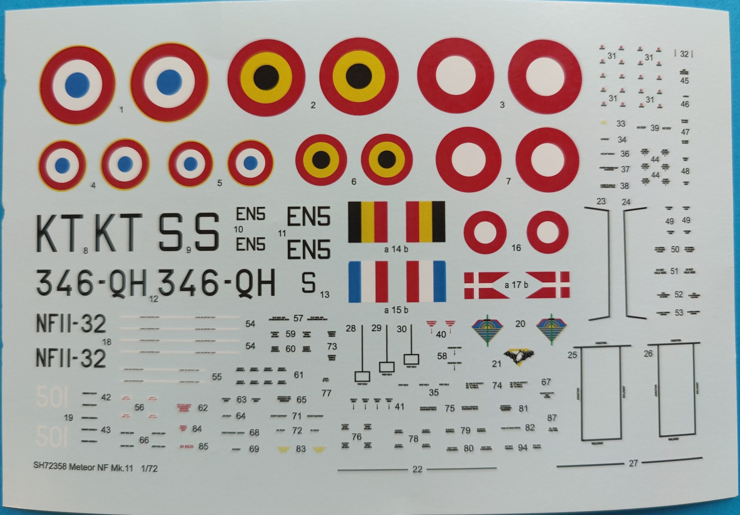 """MB_Meteor_Nf_MK11_Nato8-scaled Gloster A.W. Meteor NF Mk.1 """"Nato Users"""" in 1:72 von Special Hobby # 72358"""