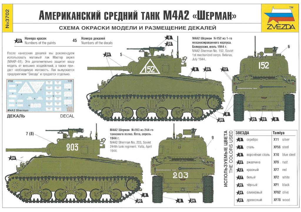 Markierung02 M4A2 Sherman 1:35 Zvezda (#3702)