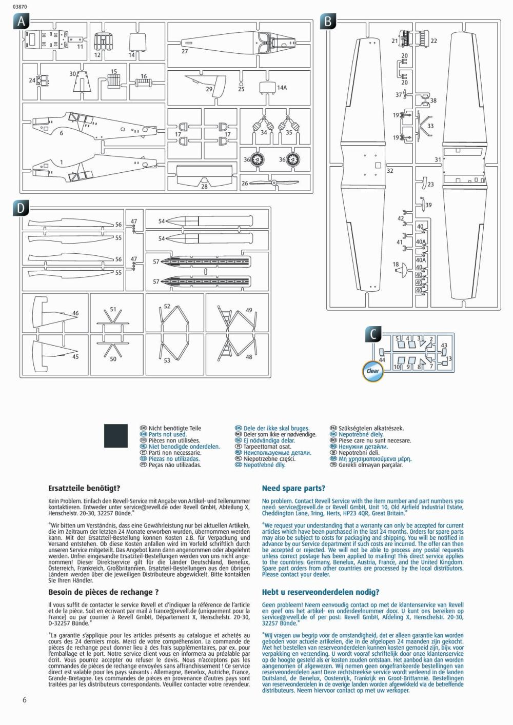 Revell-03870-Junkers-F.13-Bauanleitung4 Junkers F 13 in 1:72 von Revell # 03870
