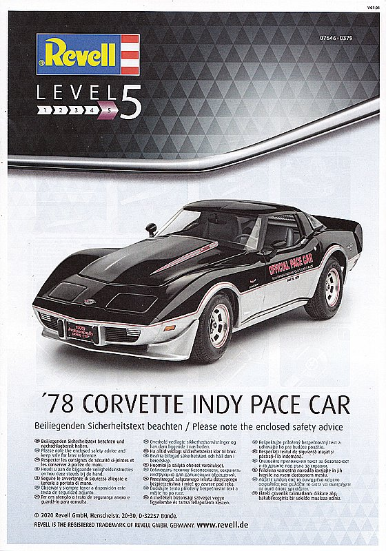 Revell-07646-CORVETTE-78-INDY-PACE-CAR-6 Corvette ´78 Indy Pace Car in 1:24 von Revell # 07646