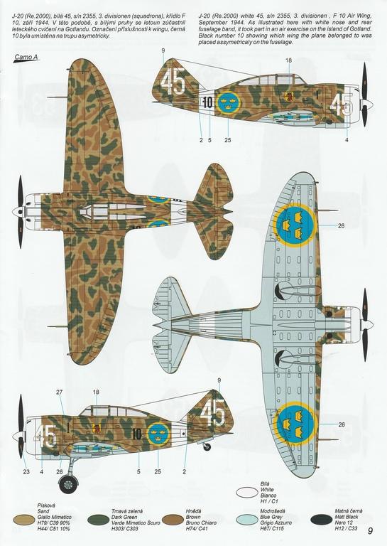 """Special-Hobby-SH-48208-J-20-Heja-I-Export-47 J-20 Héja I """"Re2000 Export Birds"""" von Special Hobby in 1:48 #SH48208"""