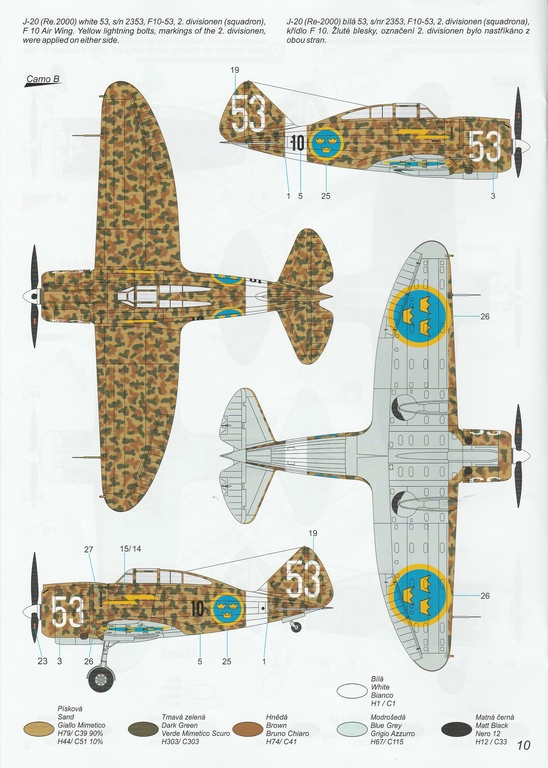"""Special-Hobby-SH-48208-J-20-Heja-I-Export-48 J-20 Héja I """"Re2000 Export Birds"""" von Special Hobby in 1:48 #SH48208"""