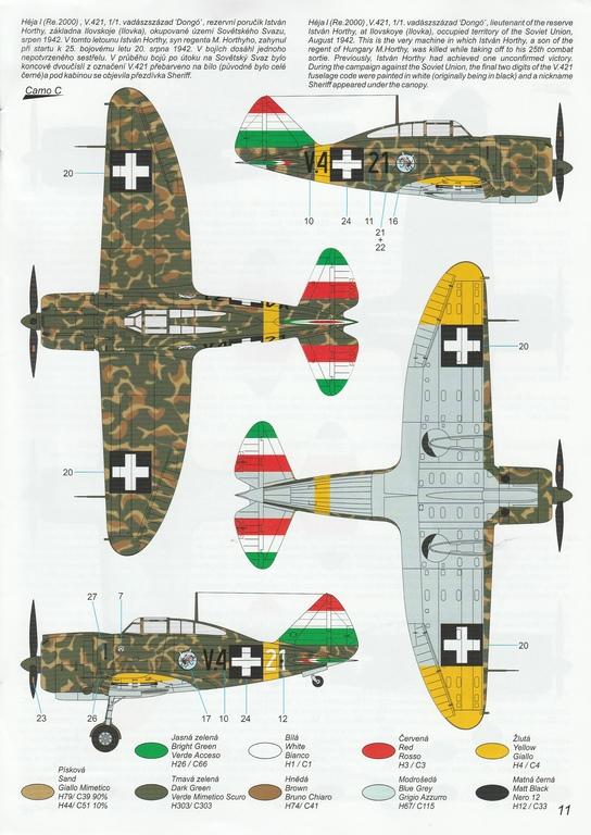 """Special-Hobby-SH-48208-J-20-Heja-I-Export-49 J-20 Héja I """"Re2000 Export Birds"""" von Special Hobby in 1:48 #SH48208"""