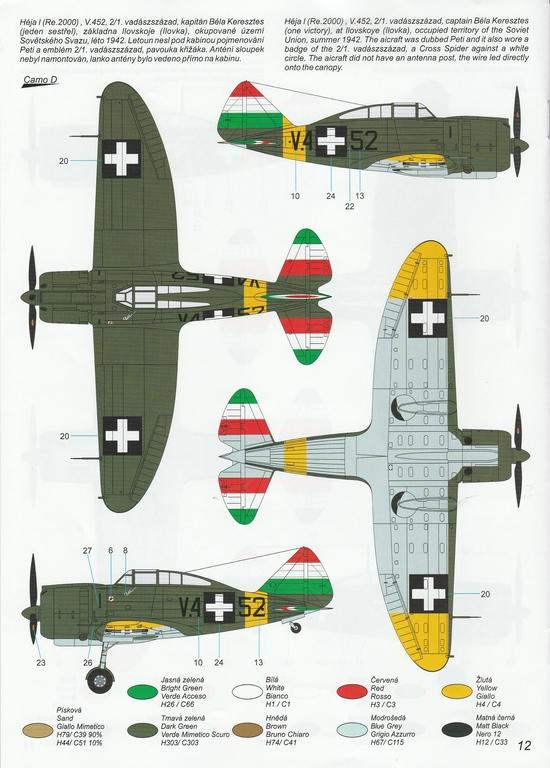 """Special-Hobby-SH-48208-J-20-Heja-I-Export-50 J-20 Héja I """"Re2000 Export Birds"""" von Special Hobby in 1:48 #SH48208"""