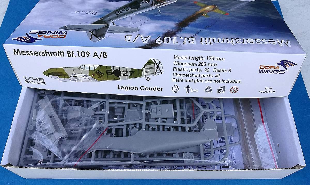DoraWings-DW-48009-Bf-109-A-und-B-Legion-Condor-2 Bf 109 A/B Legion Condor in 1:48 von Dora Wings # DW 48009