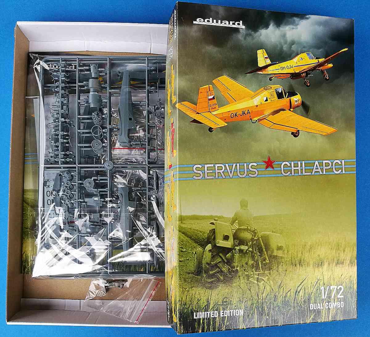 """Eduard-2131-Servus-Chlapci-Z-37A-Cmelak-1 Let Z-37A Cmelak """"Servus Chlapci"""" in 1:72 von Eduard #2131"""