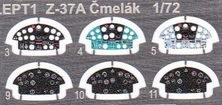 "Eduard-2131-Servus-Chlapci-Z-37A-Cmelak-Instrumentenaetzteile Let Z-37A Cmelak ""Servus Chlapci"" in 1:72 von Eduard #2131"