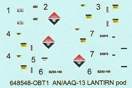 Eduard-648548-und-648553-LANTIRN-System-ANAAQ-13-und-ANAAQ-14-Pods-9 LANTIRN System AN/AAQ-13 und AN/AAQ-14 Pods 1:48 von Eduard #648548 und #648553