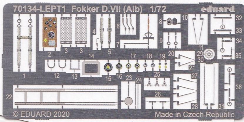 Eduard-70134-Fokker-D.VII-Alb.-ProfiPack-3 Fokker D.VII (Alb.) in 1:72 von Eduard ProfiPack # 70134