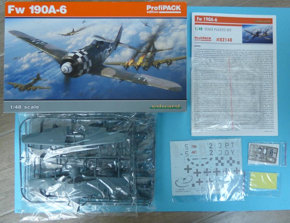 Eduard-82148-FW-190-A-6-2 Focke Wulf FW 190 A-6 ProfiPack in 1:48 von Eduard #82148