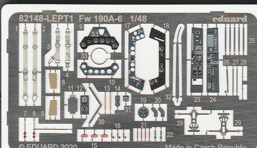 Eduard-82148-FW-190-A-6-20 Focke Wulf FW 190 A-6 ProfiPack in 1:48 von Eduard #82148