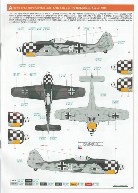 Eduard-82148-FW-190-A-6-34 Focke Wulf FW 190 A-6 ProfiPack in 1:48 von Eduard #82148