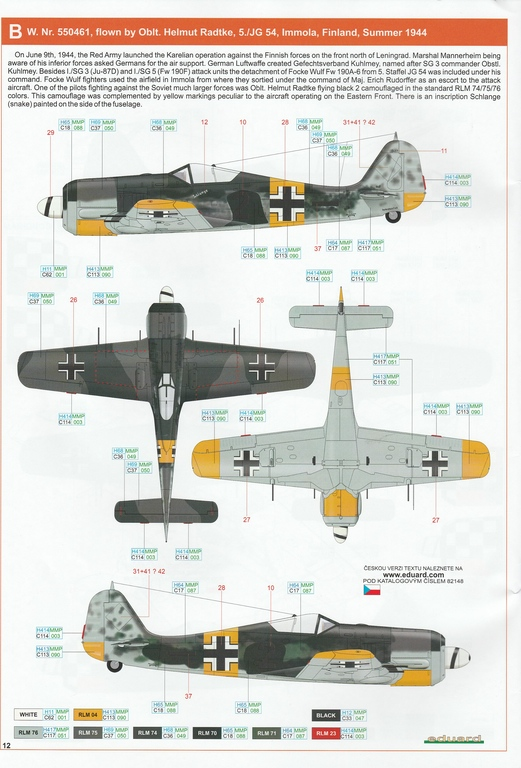 Eduard-82148-FW-190-A-6-35 Focke Wulf FW 190 A-6 ProfiPack in 1:48 von Eduard #82148