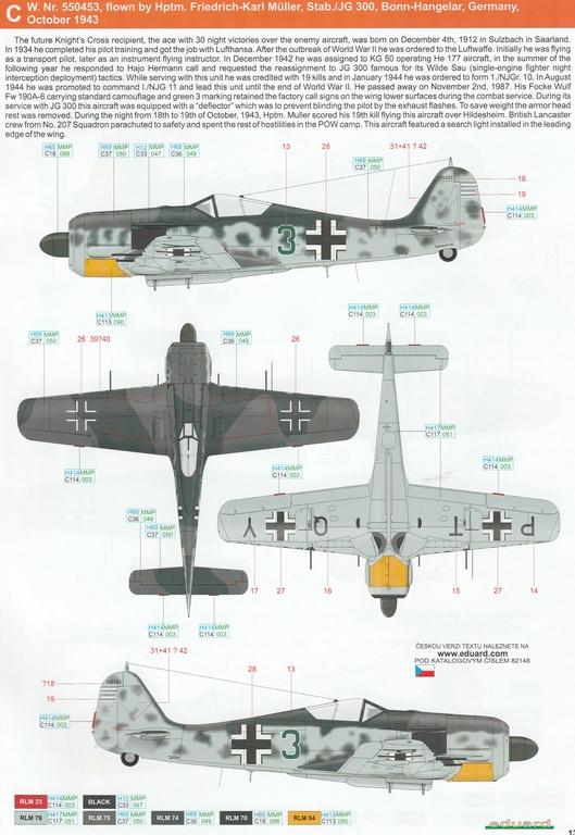 Eduard-82148-FW-190-A-6-36 Focke Wulf FW 190 A-6 ProfiPack in 1:48 von Eduard #82148