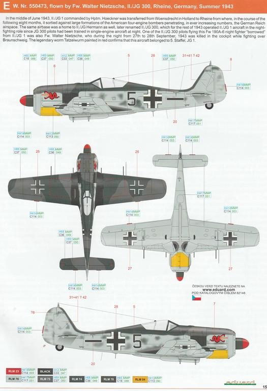 Eduard-82148-FW-190-A-6-38 Focke Wulf FW 190 A-6 ProfiPack in 1:48 von Eduard #82148