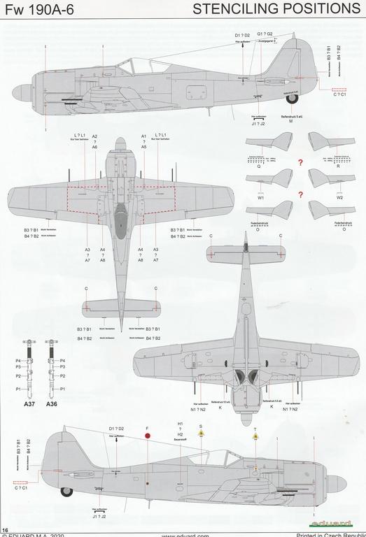Eduard-82148-FW-190-A-6-39 Focke Wulf FW 190 A-6 ProfiPack in 1:48 von Eduard #82148