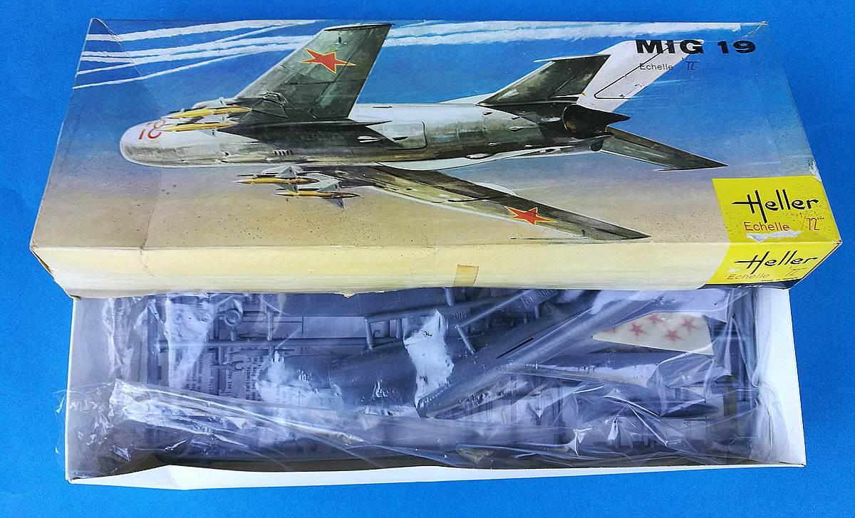Heller-L-251-MiG-19-2 Kit-Archäologie: MiG-19 in 1:72 von Heller # L 251