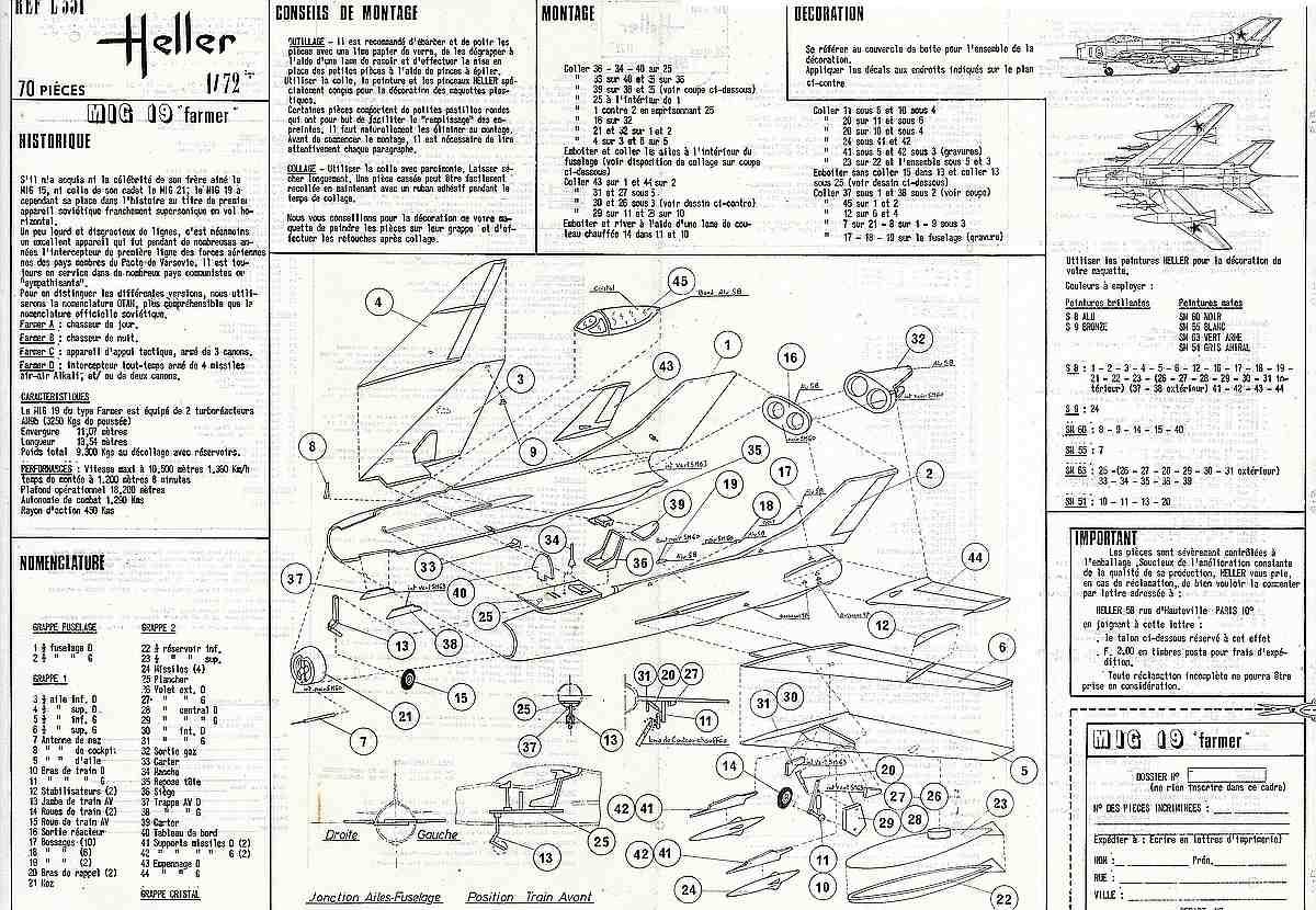 Heller-L-251-MiG-19-Bauanleitung-2 Kit-Archäologie: MiG-19 in 1:72 von Heller # L 251