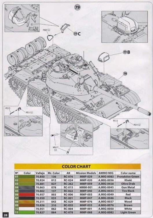 Miniart-37090-T-55-A-Polish-Prod.-Bauanleitung.24 T-55A Polish Production in 1:35 von MiniArt # 37090