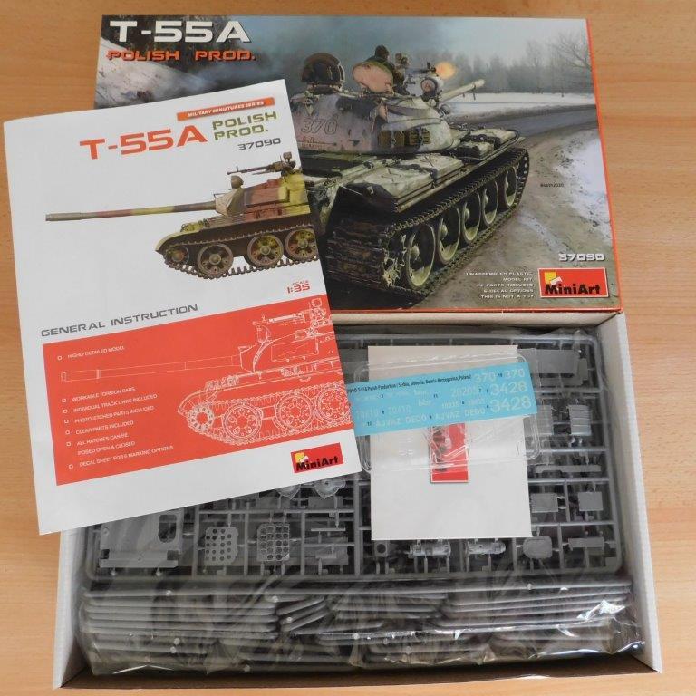 Miniart-37090-T-55A-Polish-Prod.-2 T-55A Polish Production in 1:35 von MiniArt # 37090