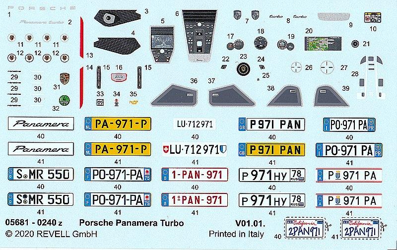 Revell-Porsche-Panamera-Turbo-16 Porsche Combo in 1:24 von Revell #05681