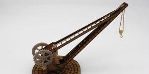 Beladekran für Hafen und Eisenbahn – 1:35 – Lasercut-Modellbaushop – Art.Nr.: LCD-067-1-35