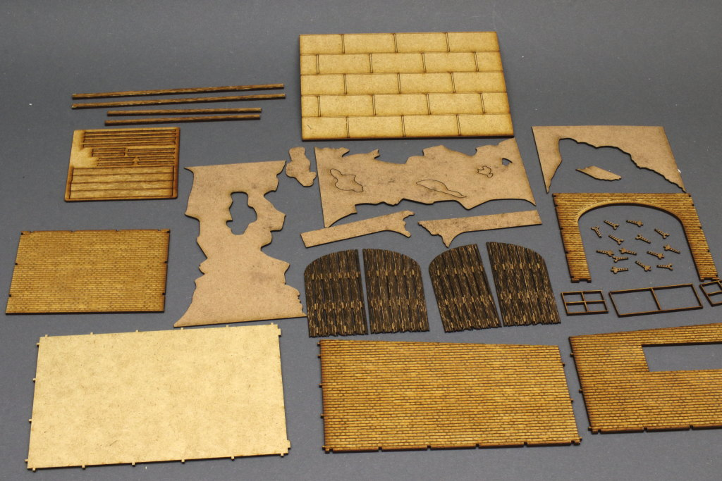 Review_Lasercut_WWII-Garage_05 Build-Review: Garage WWII - Lasercut Modellbaushop - 1/35